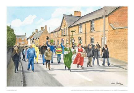 Linda Chambers - Bottle Kicking between Medbourne and Hallaton - Market Harborough