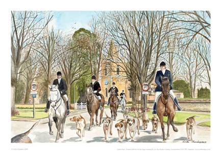 Linda Chambers - The Fernie Hunt Great Bowden - Market Harborough